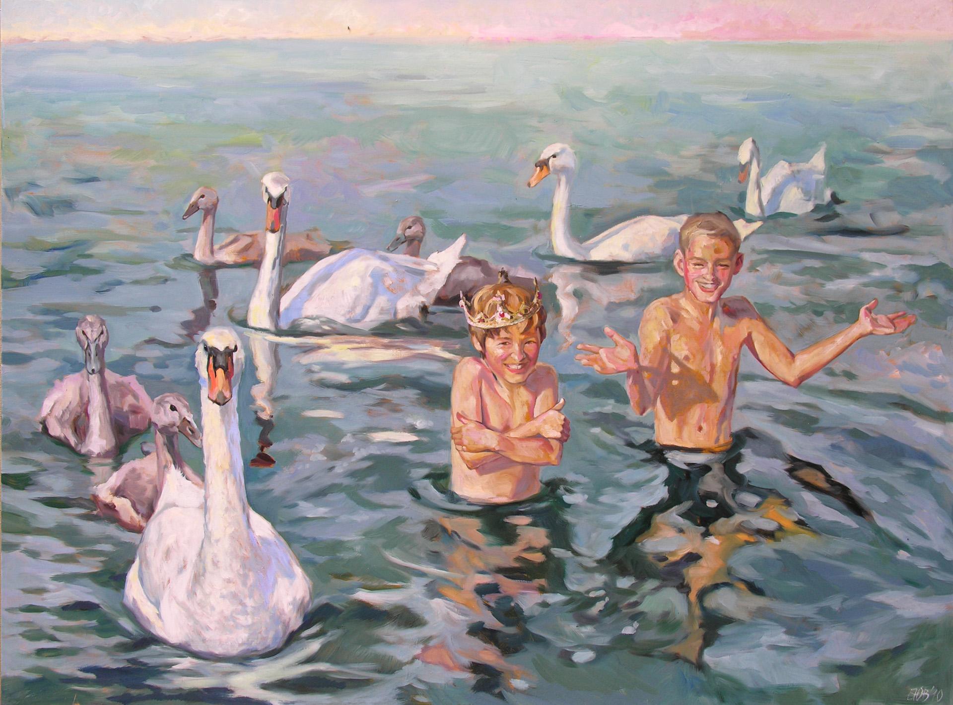 Gemälde von Julia Belot: Glücklich wie die Könige, Öl auf Leinwand, 120 cm x 160 cm, 2010