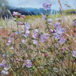 Gemälde von Julia Belot: Malven, Öl auf Leinwand, 60 cm x 80 cm, 2019