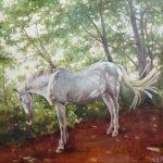 Gemälde von Julia Belot: Wolke, Öl auf Leinwand, 70 cm x 70 cm, 2020